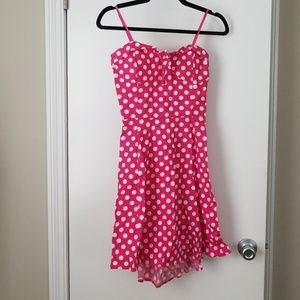 Dresses & Skirts - Pink polka dot 1950s inspired pin-up dress